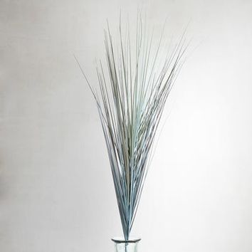 Faux Coastal Blue Grass Spray
