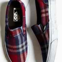 Vans Overwashed Plaid Slip-On Shoe - Urban Outfitters