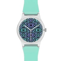 Lilac/Teal Aztec Pattern - May28th brand Wristwatch @ Zazzle.com