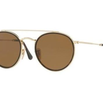NEW Ray Ban RB3647N 001/57 51 Gold Mens Womens Sunglasses Glasses Polarised