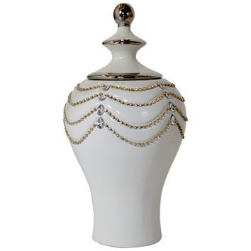 AFD Home Crystal Draped Urn