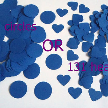 blue hearts or circles choose confetti wedding table decoration garland scrapbooking baby shower party favor cupcake topper lasoffittadiste