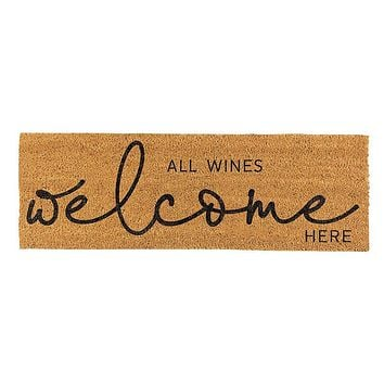 All Wines Welcome Coir Door Mat
