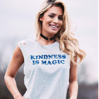 Women's Graphic Tee- Kindness is Magic tank