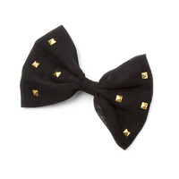 Studded Bow Hair Clip