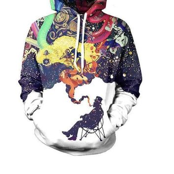 Abstract graphic hoodie