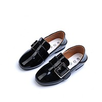 Children casual shoes spring kids brand boys wedding leather shoes girls sports flat Sneakers boat shoes tenis infantil