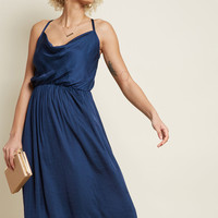 Glamorous Guest Midi Dress in Navy