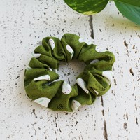 Fabric Scrunchie - Moon Bunny in Green