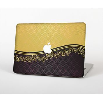 The Gold and Black Luxury Pattern Skin for the Apple MacBook Air 13""