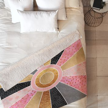 Elisabeth Fredriksson Happy Sunshine Fleece Throw Blanket