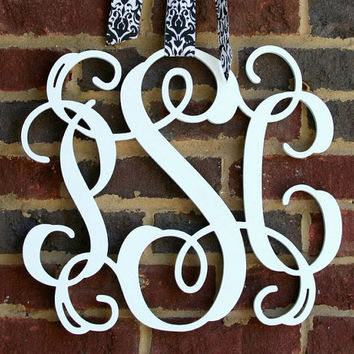 Sale Item Wooden Monogram Letters Vine Room Decor Nursery Decor Wooden Monogram Wall Art Large Wood monogram wall hanging wood