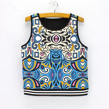 Comfortable Hot Beach Sexy Bralette Stylish Summer Ladies Sleeveless T-shirts Bat Print Crop Top Tops Vest [6048792449]