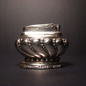 Ronson Crown silver plated table lighter - 1936 - 1948