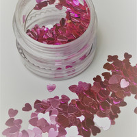 Pink Heart Chunky Face and Body Festival Glitter