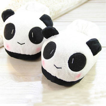 Men's Women Indoor Home Slippers Animals Panda Lover