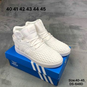 DCCK9ME Adidas TUBULAR INVADER STRAP LOS ANGELES Men High-Top White Fashion Skate Shoes