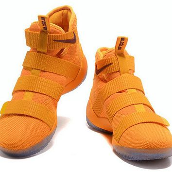 2018 Where To Buy Nike LeBron Soldier 11 Yellow Burgundy Brand sneaker