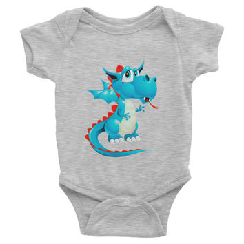 Draco Baby Blue Infant short sleeve one-piece