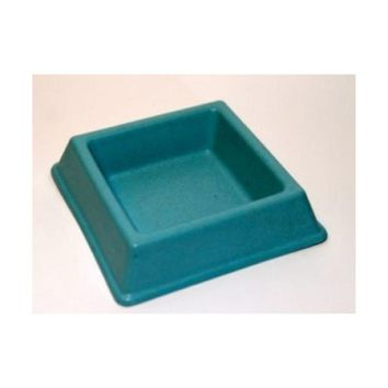 BLUE BAMBOO BOWL CAT FOOD  (square) -Green Pet Shop