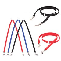 2016 Two heads pet dog collar leash double twin style puppy lead safety restriction belt two doggy outdoor walking rope on sale