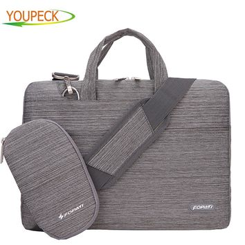 Brand Laptop Bag 15.6 15 14 13 12 11 inch Notebook Shoulder Messenger Bag Handbag Briefcase Sleeve Sling Case Cover for Macbook