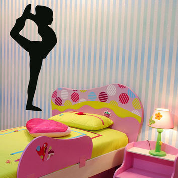 Wall Decals Vinyl Decal Sticker Art Mural Decor Baby Girl Ballerina Dancer Kj554
