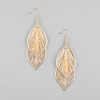 Full Tilt Dreamcatcher Leaf Dangle Earrings Gold One Size For Women 23459862101