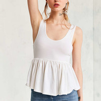 Truly Madly Deeply Annabella Peplum Tank Top - Urban Outfitters