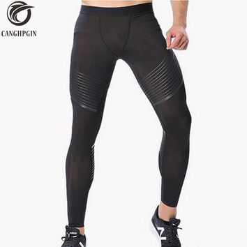 Men's Compression Pants Running Tights Men Joggers Jogging Skinny Sport Leggings Gym Compression Fitness Athletic Trousers