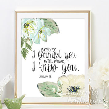 Bible Verse Wall Art scripture wall art print, bible verse from butterflywhisper on