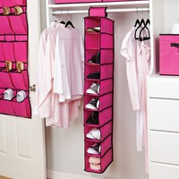 Kennedy Home Collection 10-Shelf Hanging Shoe Organizer