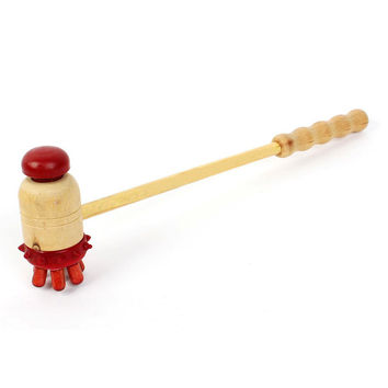 Wooden Handled Back Scratcher Lightweight Portable Wooden Hammer Body Massager Body Relaxtion