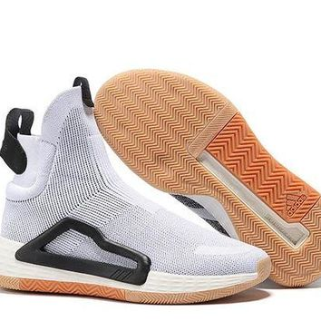 DCCK Adidas White High-top basketball shoes Size 40-46