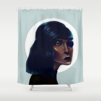 Mod Monocle Shower Curtain by Ben Geiger