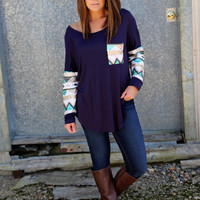 Sequin Glam Tunic {Navy}