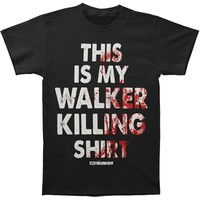Walking Dead Men's  Walker Killing T-shirt Black