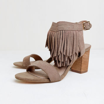 Kissy Fringe Heels By Restricted