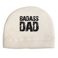 Badass Dad Adult Fleece Beanie Cap Hat by TooLoud