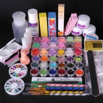350buy 36 Acrylic Powder Liquid KITS Primer UV NAIL ART TIP Set Dust Stickers Brush: Beauty