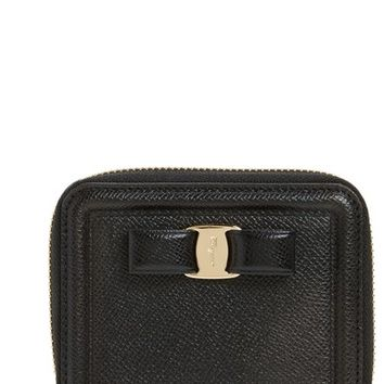 Salvatore Ferragamo Vara Leather Zip Around French Wallet | Nordstrom