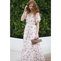 Bethany Floral Wrap Maxi Dress