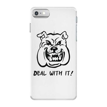 deal with it angry pitbul iPhone 7 Case