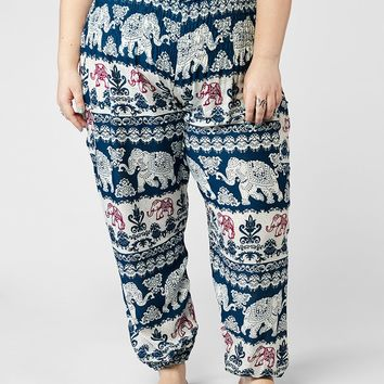 Surapa Plus Size Teal Harem Pants