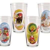Dr. Seuss The Grinch Four Piece Glass Set