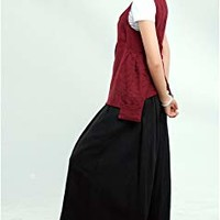 Women's Linen Wide Leg Pants Loose Fitting Plus Size Oversized