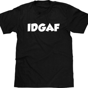 Funny T Shirt, IDGAF, I Don't Give A, Funny Shirt, Offensive T Shirt, Funny TShirt Profane T Shirt, Crude Humor, Graphic Tee Men Plus Size