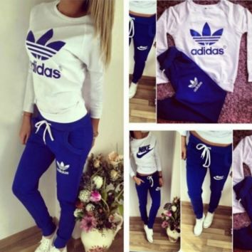 Cool Letters Long Sleeve Shirt Sweater Pants Sweatpants Set Two-Piece Sportswear
