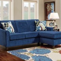Blue Chenille Couch | Elizabeth Royal Two Piece Sectional Sofa