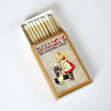 Alice's Adventures in Wonderland - Book Covered Matchbox - Lewis Carroll - Paper Art - Unique Gift - Light a Literary Spark